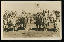 INDIAN CHIEFS on HORSEBACK, Photo Post Card