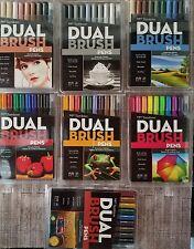60 TOMBOW DUAL BRUSH ART PENS MARKERS 56167 56168 56169 56171 56185 56186 LOT