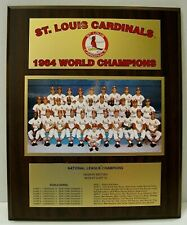 St. Louis Cardinals 1964 World Series Championship Plaque by Healy Awards