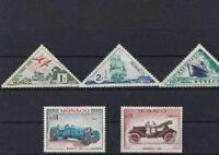 MONACO MOUNTED MINT AND USED STAMPS ON STOCK CARD REF 1080