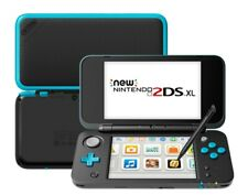 New Nintendo 2DS XL Black + Turquoise Handheld Gaming System!