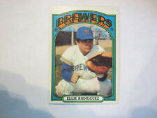 1972 Topps # 421 Ellie Rodriguez Autograph / Signed Card Milwaukee Brewers (C19)