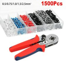 Crimping Tool Pliers And 1500pcs Bootlace Ferrule Crimp Terminal Kit 0.5-2.5mm