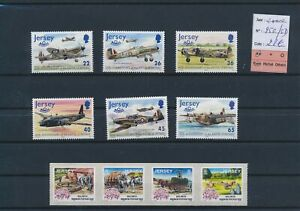 LN29586 Jersey 2000 aviation airplanes fine lot MNH cv 28 EUR