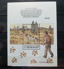 2000 MICRONESIA MINI SHEET. MNH/UNUSED. SG CAT £15.00. DOGS/ANIMALS