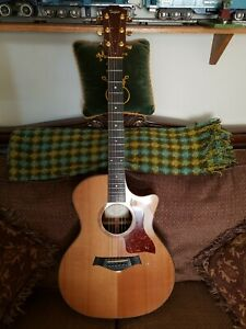Taylor 714-CE Rosewood 6 String Acoustic Electric Guitar right OHSC