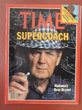 1980 PAUL W. BRYANT ALABAMA FOOTBALL TIME MAGAZINE  - MAKE OFFER