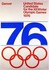 1976 Denver Winter Olympics US candidate advertising poster original