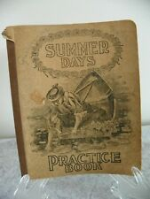 ANTIQUE 1902 HANDWRITTEN COMPOSITION GRAMMAR NOTE BOOK WITH CLASS MATES LISTED