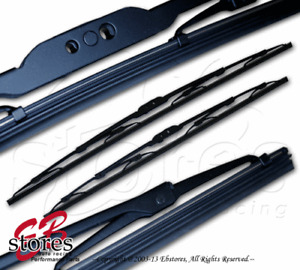 """Set of 2 OEM Replacement Bayonet Arm Wiper Blades 17"""" Driver, 17"""" Passenger Side"""