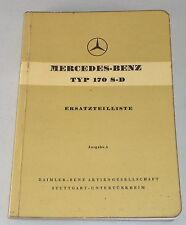 Teilekatalog Mercedes Benz W136 / 170 S-D Diesel Ausgabe A von 08/1953