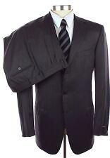 New ERMENEGILDO ZEGNA Italy Black Copper Stripe Wool Suit 52 42 42L NWT $2395