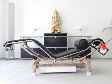 Cassina Le Corbusier LC 4 Liege, Leder schwarz, Chrom, Top, inkl. 19% MwSt.!