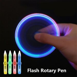 LED Fidget Spinner Pen Glow In The Dark Spinning Gift Anxiety Stress Relief UK