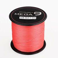 Dorisea 100M-2000M MEGA 9 Strands Red Super Power pe Dyneema Braid Fishing Line