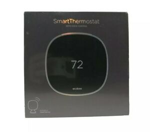 SEALED Ecobee EB-STATE5-01 Programmable Smart Thermostat w/ Sensor Voice Control