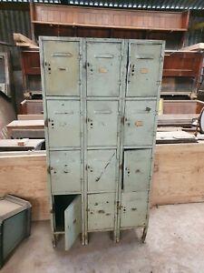 Vintage metal school lockers retro reclaimed  £10 start