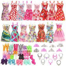 BARWA 32 pcs Doll Clothes and Accessories 10 pcs Party Dresses 22 pcs Shoes Crow