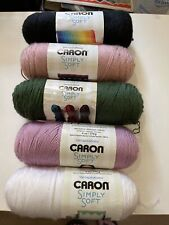 5 Skeins of Acrylic Yarn Assorted Colors