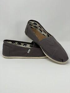 Toms Men's Classic Alpargata Slip On Shoe Size 13 Canvas Dark Gray