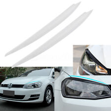 White Headlight Eyebrow Eyelids Cover Trim Kit Decor For VW Golf 7 VII GTI R MK7