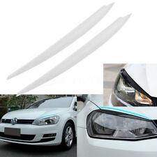 White Headlight Eyebrow Eyelids Cover Trim Kit Decor For VW Golf 7 VII GTI R MK7