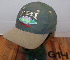 NICE FBI DENVER HAT GREEN EMBROIDERED SNAPBACK ADJUSTABLE VERY GOOD COND G14