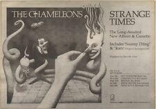 13/9/86PN25 ADVERT: THE CHAMELEONS LONG-AWAITED ALBUM STRANGE TIMES 7X11