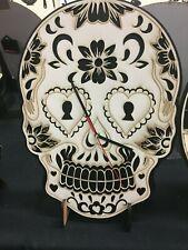 Sugar Skull Clock Free Shipping 10 X 15 INCHES
