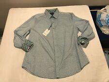 NWT $198.00 Robert Graham Mens Dalegard Classic Buttondown Blue Geo Sz XL