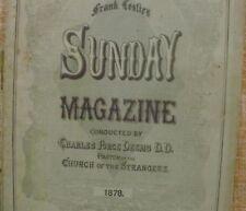 Frank Leslie´s/ Sunday Magazine/ Charles Force Deems/ 1878/ January/ Vol. 3/No.1