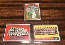 1960 1963 HANK BAUR BOB CERV Kansas City Oakland Athletics Baseball Card 262 297