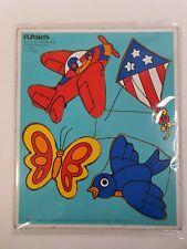 Playskool Puzzle Things That Fly Vintage Wood Puzzle