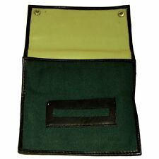 Job Lot Of 5 Factory Second Green Rolling Canvas Tobacco Pouch Rubber Lined