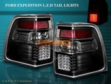 07-11 FORD EXPEDITION EL XLT LIMITED TAIL LIGHTS BLACK LED 1 PAIR 2007-2011