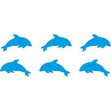 12 Stück 4cm hellblau Delphine Tümmler Aufkleber Auto Tattoo die cut Deko Folie