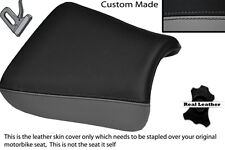 GREY & BLACK CUSTOM FITS SUZUKI GS 1200 SS 01-02 FRONT LEATHER SEAT COVER
