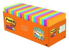 Post-it Super Sticky Notes 3x3 in, Rio de Janeiro Collection 24 Pads, 70 Sheets