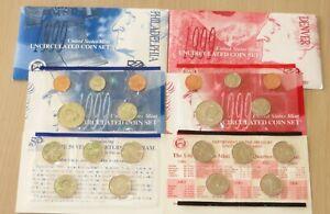 US Uncirculated 1999 PD US Mint set #U31-2 with U.S. State Quarters. Great set !
