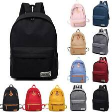Canvas Backpack College Laptop Rucksack Casual School Book Travel Shoulder Bag
