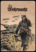 Die Wehrmacht Soldat Panzer Blechschild Schild Tin Sign 20 x 30 cm SM0045-X