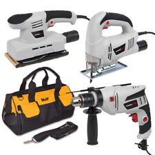 Powerplus Impact Drill Sander Jigsaw Kit & Tool Bag DIY Power Tool Bundle