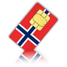 SIM Karte für Norwegen mit 1GB mobiles Internet +200 Min. Nano
