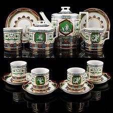 Tea set Lomonosov Porcelain, Antique pattern, IFZ, Russia