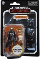 Star Wars Vintage Collection Mandalorian Din Djarin & Child Walmart EXC. IN HAND