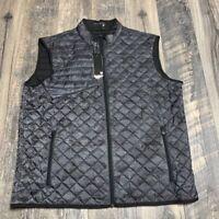 Greyson Golf Black Grey Quilted Vest Size XXL NWOT