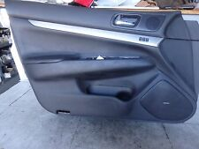 2013 INFINITI G37 LEFT DRIVER SIDE FRONT DOOR TRIM PANEL BLACK LEATHER