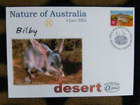 SCARCE ALPHA FIRST DAY COVER - 2002 NATURE OF AUSTRALIA. BILBY