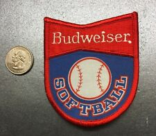 "Budweiser Softball Bud Light Anheuser-Busch Embroidered Patch 3"" X 4"""