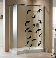DELPHIN STICKERS Shower Screen Sticker Waterproof Bathroom Wall Sticker N135
